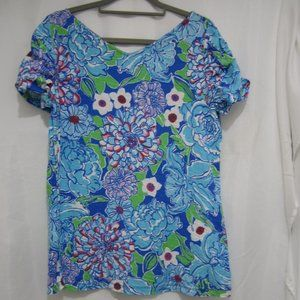 Lilly Pulitzer XL Leila Top May Flowers  Spring